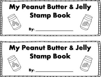Peanut Butter & Jelly Stamp Book {FREEBIE}