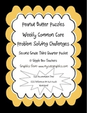 Peanut Butter Math Puzzles 2 CCSS Problem Solving Challenges-2nd Gr 3rd Qtr Pack