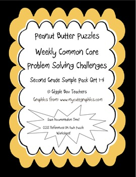 Peanut Butter Puzzle Common Core Problem Solving Math Challenges Sample Pack