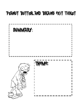 Peanut Butter and Brains Exit Ticket