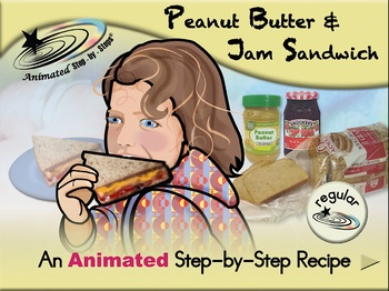 Peanut Butter & Jam Sandwich - Animated Step-by-Step Recipe - Regular