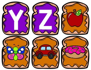 Peanut Butter and Jelly Alphabet Match Game