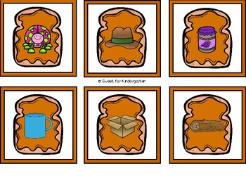 Peanut Butter and Jelly CVC Matching Game