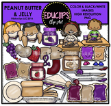 Peanut Butter and Jelly Clip Art Bundle {Educlips Clipart}
