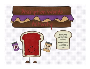 Peanut Butter and Jelly Description Words