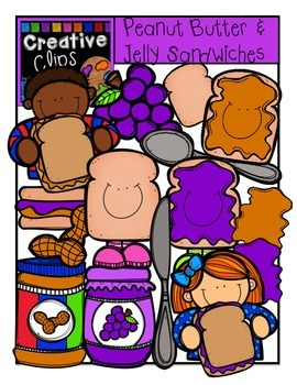 Peanut Butter and Jelly KIDS {Creative Clips Digital Clipart}