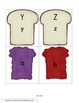 Peanut Butter and Jelly Letter Match