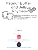 Peanut Butter and Jelly Long Vowel Rhymes FREEBIE