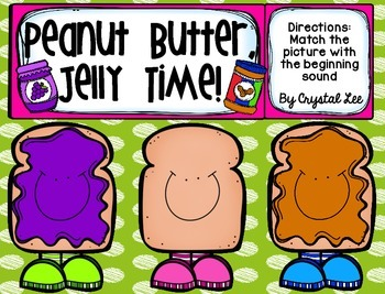 Peanut Butter and Jelly Matching- Initial Sounds