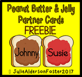 Peanut Butter and Jelly Partner Cards  Freebie