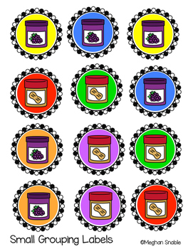 Peanut Butter and Jelly Partner Labels