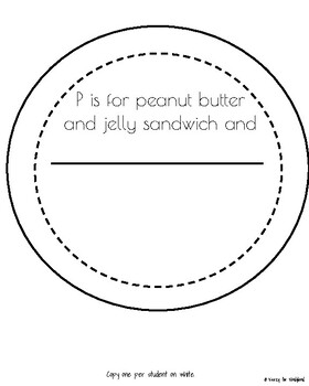Letter P Craft: Peanut Butter and Jelly Sandwich