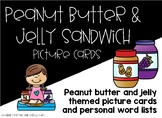 Peanut Butter and Jelly Sandwich Picture Cards