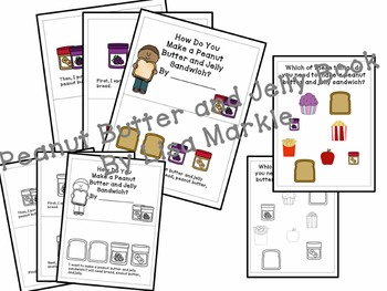 Peanut Butter and Jelly Sandwich Sequence Reader and Memory Activity NO PREP