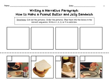 Peanut Butter and Jelly Sequence Paragraph