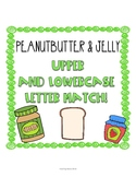 Peanut Butter and Jelly Upper and Lowercase Letter Match