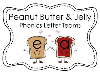 Peanut Butter and Jelly Vowel and Letter Team Posters