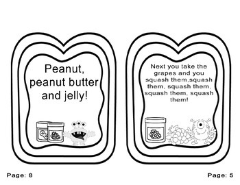 Peanut Butter and Jelly booklet