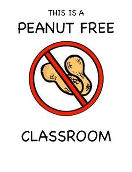 Peanut Free Classroom