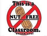 Peanut Free Classroom Parent's Signature