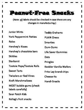 Peanut Free Snacks - Birthday Snacks