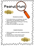 Peanut Hunt - Short u read and write the room