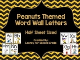 Peanut Themed Word Wall Letters