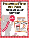Peanut & Tree Nut Free Posters & Allergy Safety Rules (Freebie)