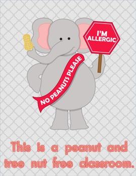 Peanut and Tree Nut Free Sign