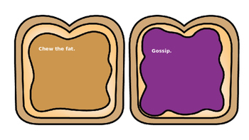 Peanut butter jelly idiom game