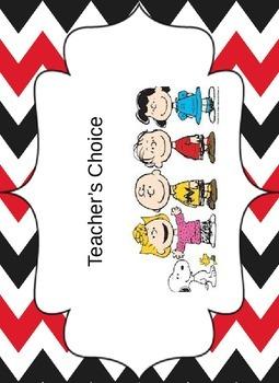 Peanuts Snoopy Behavior Chart