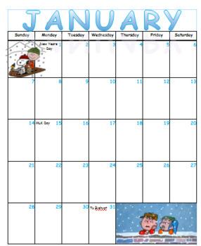 Peanuts Calendar 2017-2018