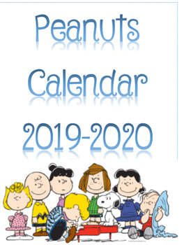 Peanuts Calendar 2019-2020 School year