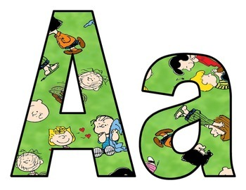 Peanuts Characters BB Letters