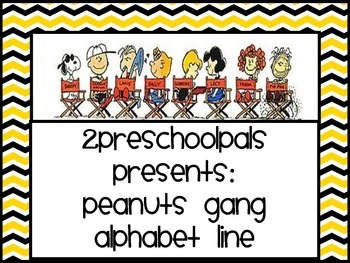 Peanuts, Charlie Brown, Snoopy Alphabet line