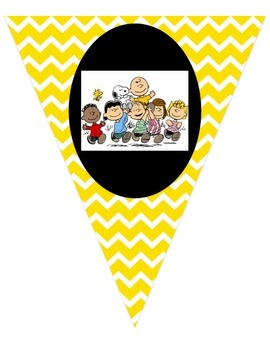Peanuts, Charlie Brown, Snoopy Binder cover and yellow chevron bunting