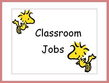 Peanuts Classroom Jobs Preview