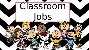 Peanuts Classroom Jobs Clip Chart
