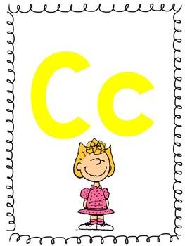 Peanuts Gang Alphabet Line