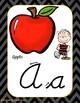 Peanuts Gang- Charlie Brown- Chevron Alphabet in Cursive