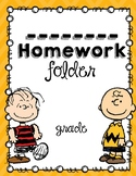 Peanuts Gang- Charlie Brown- Homework Folder *Editable*