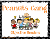 Peanuts Gang-Charlie Brown- Objective Headers