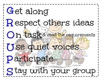 Peanuts Gang Group Acrostic Poster
