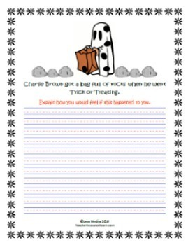 """""""Peanuts Gang"""" October-Themed Writing Prompts"""