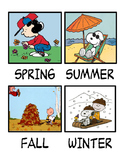 Peanuts Gang Seasons chart