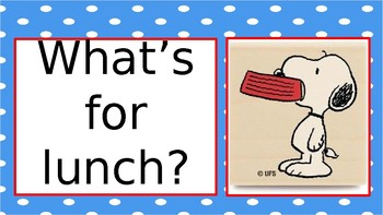 Peanuts Lunch Sign