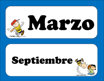 Peanuts Months of the Year (Spanish)