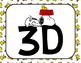 Peanuts Snoopy 2D and 3D Shape Headers