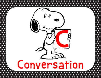 Peanuts Snoopy Champs Classroom Management Posters