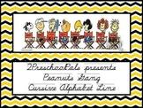 Peanuts Snoopy Cursive Alphabet line